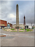 SD3036 : Cenotaph and Tower, Blackpool by David Dixon