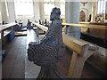 TM4575 : Carved bench  end in Holy Trinity Church, Blythburgh by Marathon