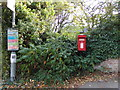 TL9125 : Aldham Church Postbox & Bus Stop by Geographer
