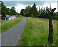 SD8845 : Sustrans milepost along the canal towpath by Mat Fascione
