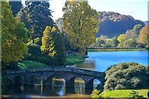 ST7733 : Wiltshire : Stourhead - Garden Lake by Lewis Clarke