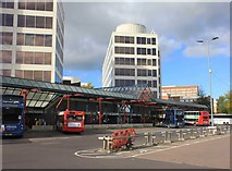 SU1585 : Swindon Bus Station by Helen Iwanczuk