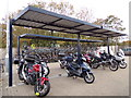TL9123 : Cycle & Motorcycle parking  at Marks Tey Railway Station by Adrian Cable