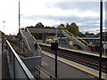 TL9123 : Pedestrian Footbridge at Marks Tey Railway Station by Adrian Cable