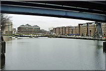 TQ3780 : West India Dock North by Robin Webster