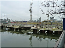 TQ3780 : West India Dock North, 2011 by Robin Webster