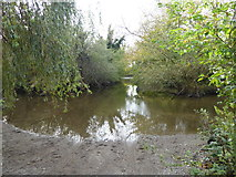 TQ0481 : An old ford on the River Colne by Marathon