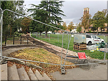 SP3165 : Footpath construction, Pump Room Gardens, Royal Leamington Spa by Robin Stott