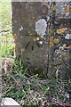 NX9820 : Benchmark on gatepost on SW side of road by Roger Templeman