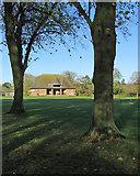 TL4458 : St John's College Sports Pavilion by John Sutton