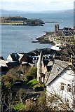 NM8530 : Oban Bay from McCaig's Tower by Richard Sutcliffe