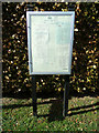 TL8930 : Wakes Colne Village Notice Board by Adrian Cable