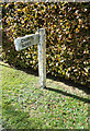 TL8930 : Signpost on Middle Green by Adrian Cable