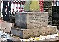 SJ9593 : Chadwick memorial  inscription by Gerald England
