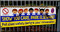 SO0429 : Show You Care, Park Elsewhere!, Pendre Close, Brecon by Jaggery