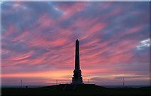 NX1897 : Sunset at War Memorial, Girvan by Billy McCrorie
