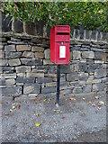 SE1115 : Elizabeth II postbox on Scar Lane, Milnsbridge by JThomas