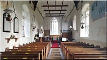 TG3609 : Nave of St Peter's church, Lingwood by Helen Steed