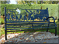 SO0451 : Memorial Seat (2), Builth Wells by Robin Drayton