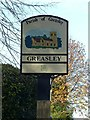 SK4847 : Greasley village sign by Alan Murray-Rust