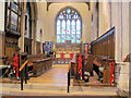 SP9211 : Poppies in the Chancel of St Peter & St Paul, Tring by Chris Reynolds