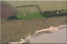 TM0308 : Chapel of St. Peter on the Wall, Bradwell-on-Sea.: aerial 2018 by Chris
