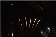 TQ1985 : View of fireworks in the Light Up the Night event from the Wembley Stadium walkway #8 by Robert Lamb