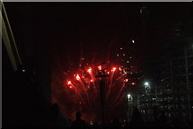 TQ1985 : View of fireworks in the Light Up the Night event from the Wembley Stadium walkway #11 by Robert Lamb