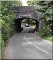SU1660 : South side of a low railway bridge, Pewsey by Jaggery