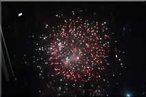 TQ1985 : View of fireworks in the Light Up the Night event from the Wembley Stadium walkway #20 by Robert Lamb