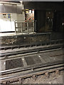 TQ3580 : Gratings in the track, Wapping Overground station, London by Robin Stott