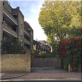 TQ3480 : Rear of Wapping Lane from Prusom Street, Wapping by Robin Stott