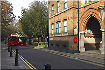 TQ3480 : Two buses can pass on Wapping Lane, Wapping by Robin Stott