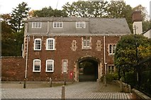 SX9292 : Exeter, gatehouse by Mike Faherty