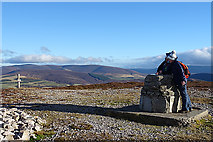 NJ1824 : Admiring the view from Cairn Daimh by Anne Burgess