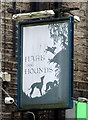 SD9905 : Sign for the Hare & Hounds, Uppermill by JThomas