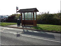 TL8131 : Bus Shelter on the A1124 Hedingham Road by Adrian Cable