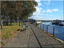 NS3975 : Riverside walkway, Dumbarton by Lairich Rig