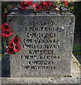 TG1937 : WW1 War Memorial and Roll of Honour, Metton by Ian S