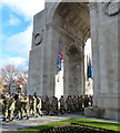 SK5903 : Remembrance Day 2018 in Victoria Park, Leicester by Mat Fascione