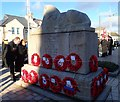 J3730 : Reading the messages written on wreaths laid at  Newcastle's War  Memorial by Eric Jones