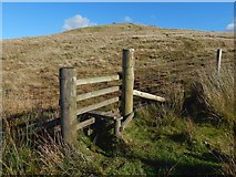 NS2472 : A stile on Hillside Hill by Lairich Rig