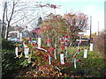 SP8700 : Tree with Remembrance labels, Prestwood (1) by David Hillas