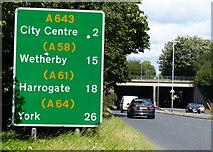 SE2831 : A643 in Leeds by Mat Fascione