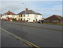 ST3090 : Semis and a bungalow, Malpas Road, Newport by Jaggery