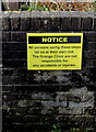 ST3090 : Yellow notice near a path to Grange Clinic, Malpas, Newport by Jaggery