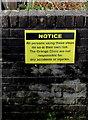ST3090 : Yellow notice near a path to Grange Clinic, Malpas, Newport by Jaggery