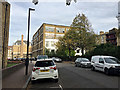 TQ3480 : Chimney Court flats seen from Green Bank, Wapping by Robin Stott