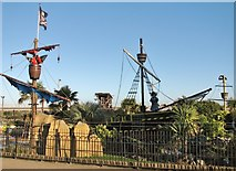 TG5307 : Pirates Cove adventure golf off Marine Parade by Evelyn Simak
