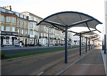 TG5307 : Shelters on Marine Parade by Evelyn Simak